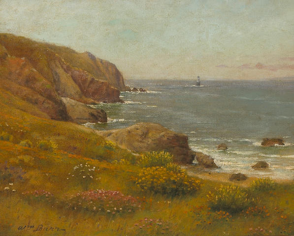 William Barr (British/American, 1867-1933) Coastal view 16 x 20 1/4in
