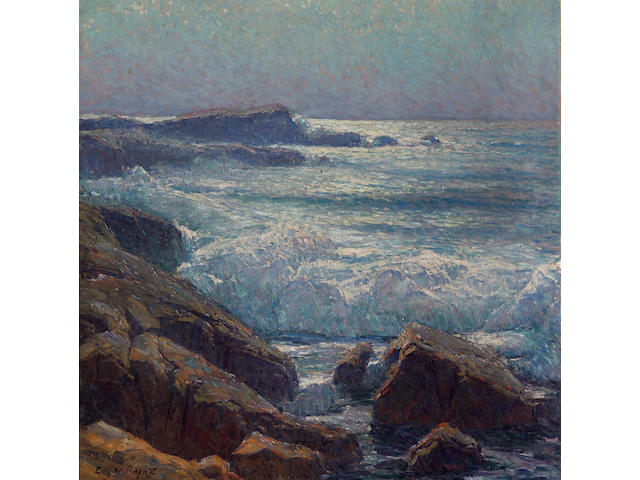 Edgar Payne (1883-1947) Waves on the California Coast 43 x 43in