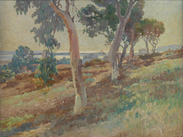 Charles A. Fries (1854-1940) From the Park 16 x 20in