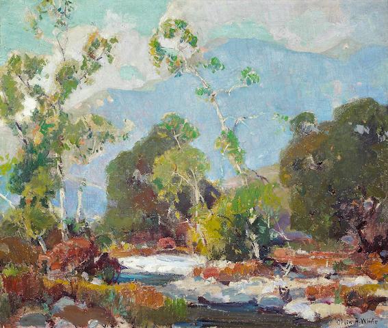 Orrin A. White (American, 1883-1969) Arroyo Seco Landscape 20 1/4 x 24 1/4in