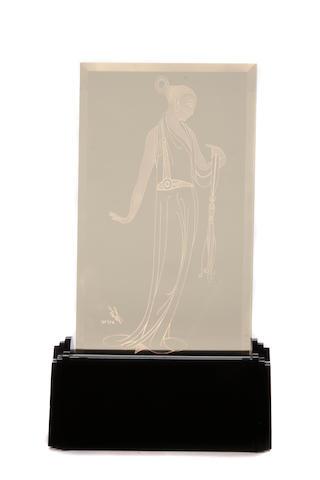 Erté (Romain de Tirtoff) (Russian, 1892-1990); Elegance (Luminaire);