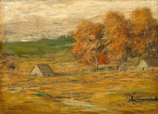 John Francis Murphy (1853-1921) Cottage in a Sunny Field 10 x 14in