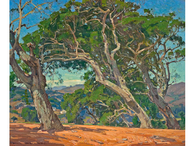 William Wendt (American, 1865-1946) The Hilltop, 1926 25 x 30in