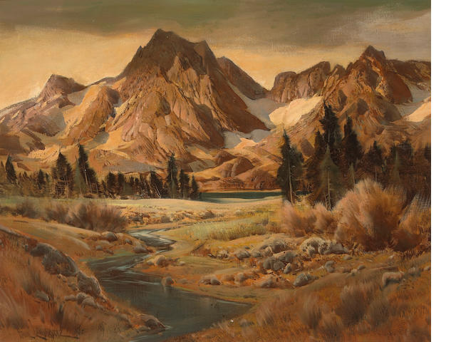 Paul Lauritz (Norwegian/American, 1889-1975) Sequoia National Park 24 x 30in