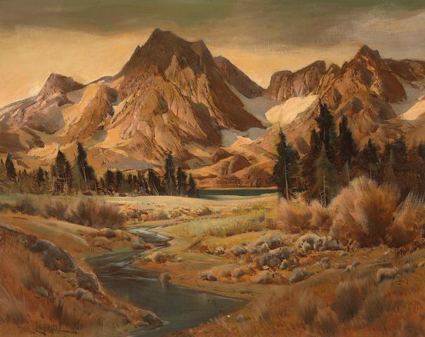 Paul Lauritz (Norwegian/American, 1889-1975) Sequoia National Park 24 x 30in