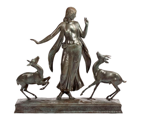 (n/a) Paul Howard Manship (American, 1885-1966) Dancer and Gazelles height: 32 1/2in
