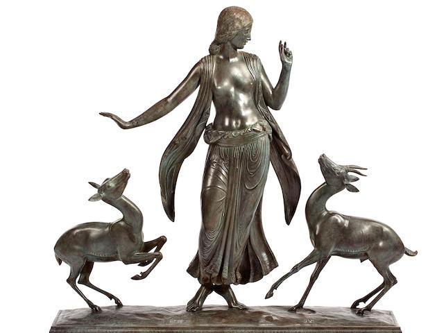 Paul Howard Manship (American, 1885-1966) Dancer and Gazelles height: 32 1/2in