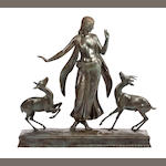 Paul Howard Manship (American, 1885-1966) Dancer and Gazelles 32 1/2in high