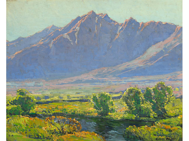 Edgar Payne (1883-1947) A view along the Owen's River 24 x 30in