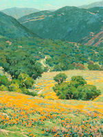 Granville Redmond (American, 1871-1935) Southern California Hills 25 x 30 1/4in