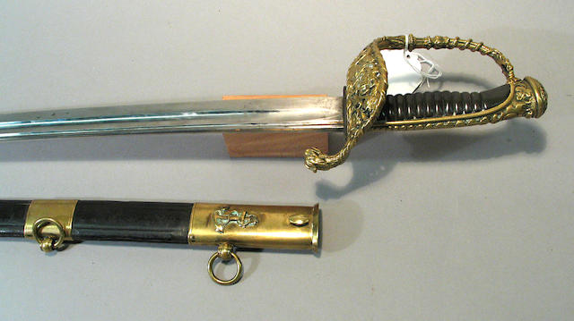 A French naval officer's sword