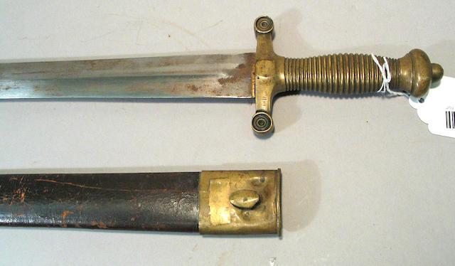 A foot artillery short sword