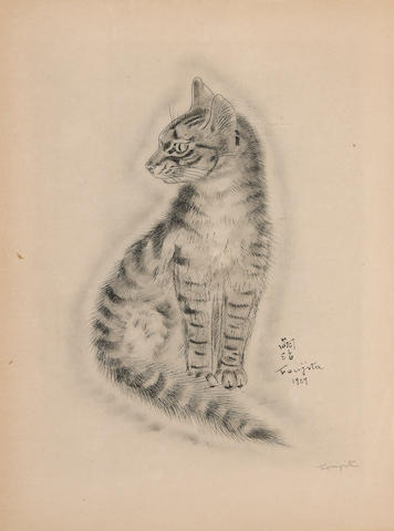 [FOUJITA.] A Book of Cats. W/ additional suite of 20 etchings.