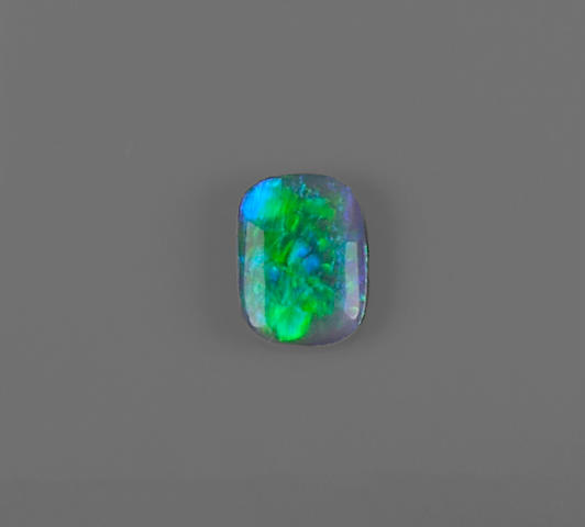 Double-sided Black Crystal Opal