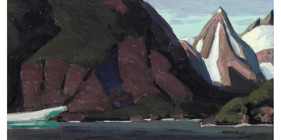 Conrad Buff (American, 1886-1975) Primeval Coast, Alaska, 1936 9 x 17in