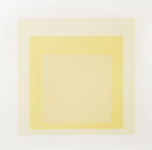 Josef Albers (American, 1888-1976); from White Line Squares (Series I);