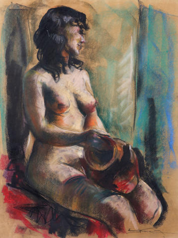 Emil Jean Kosa, Jr. (American, 1903-1968) Female Nude sight 23 1/2 x 17 5/8in