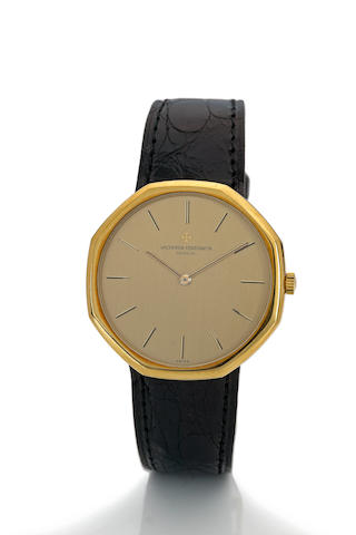 Vacheron & Constantin. An 18K gold octagonal wristwatchCase no. 518533, movement no. 707719, Ref. 39001