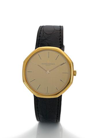 Vacheron & Constantin. An 18K gold octagonal wristwatch Case no. 518533, movement no. 707719, Ref. 39001