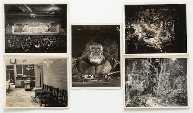 "A group of black and white set stills from ""King Kong"""