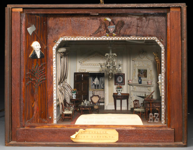 A miniature room diorama of George Washington's home, Mount Vernon Andrew Zenorini mid 20th century