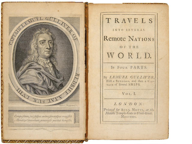 SWIFT, JONATHAN. 1667-1745. Travels into Several Remote Nations of the World. L: 1726.