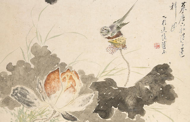 Wang Yin (19th century) and Wu Zhijin (19th Century), two album leaves