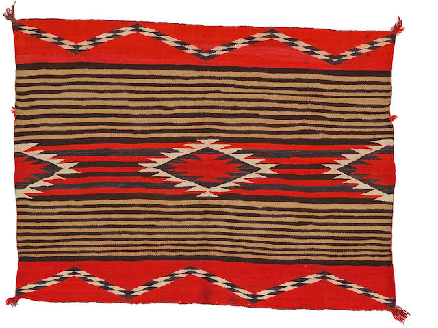 A Navajo transitional woman's blanket, 3ft 3in x 4ft 4in