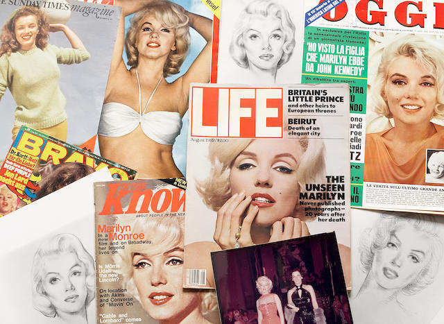 A Marilyn Monroe group of ephemera, 1970s-1980s