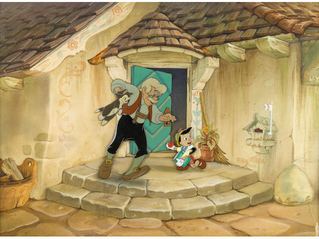 "A Walt Disney celluloid from ""Pinocchio"""