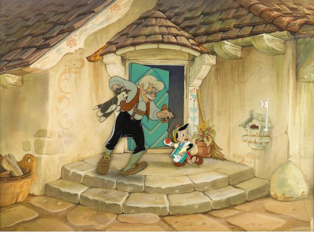 "A Walt Disney celluloid from ""Pinocchio"""