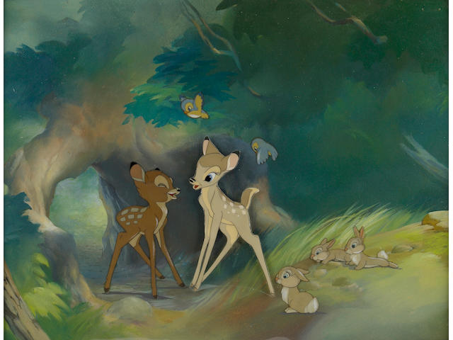 "A Walt Disney celluloid from ""Bambi"""