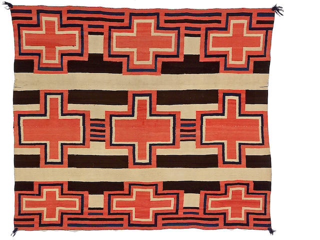 A Navajo late classic chief's blanket, 4ft 9in x 5ft 7in