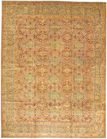 A Kashan Dabir carpet South Central Persia size approximately 9ft. 11in. x 13 ft. 1in.