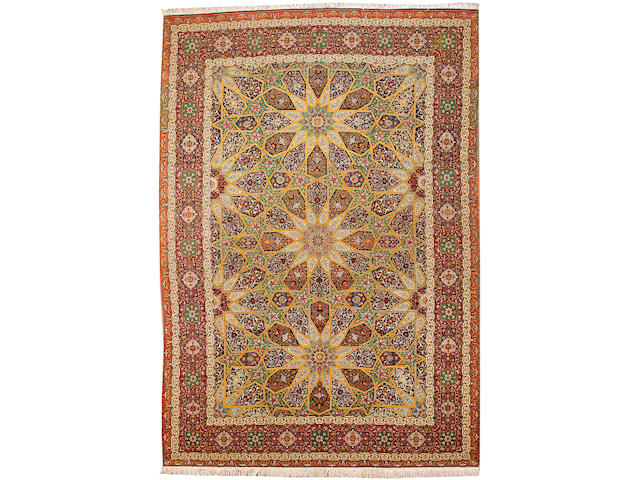 A Tabriz carpet Northwest Persia size approximately 11ft. 5in. x 16ft. 6in.