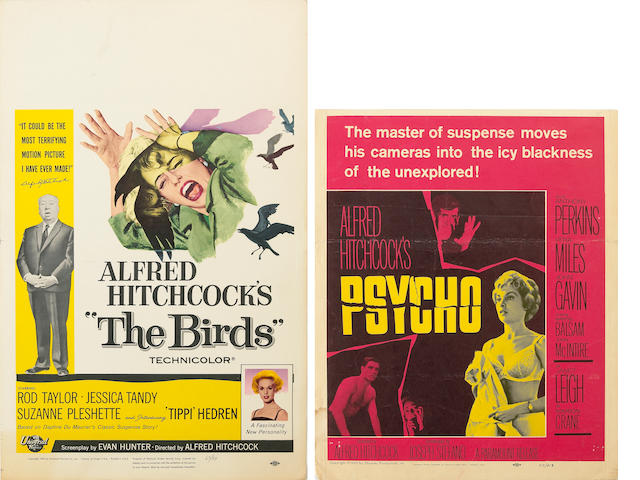 "Three ""Alfred Hitchcock"" window cards, 1960s"