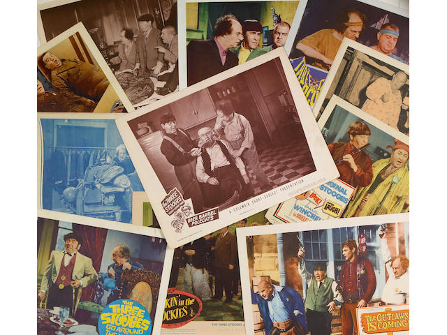 "A ""Three Stooges"" huge collection of lobby cards, 1940s-1960s"