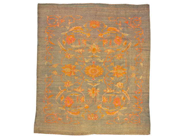An Oushak carpet West Anatolia size approximately 9ft. 6in. x 11ft.