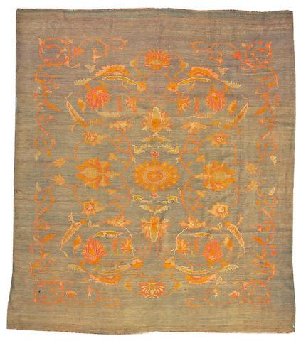 An Oushak carpet West Anatolia size approximately 9ft. 6in. x 11ft.