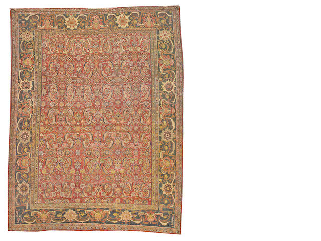 Ziegler Mahal carpet Central Persia size approximately 8ft. 10in x 11ft. 4in.