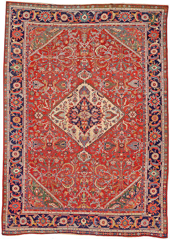 A Sultanabad carpet Central Persia size approximately 9ft. 1in. x 12ft. 9in.