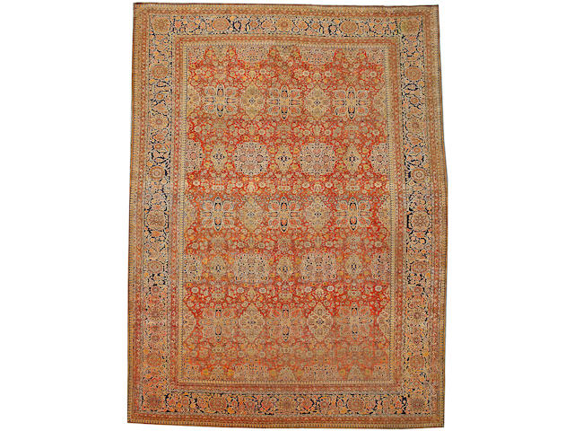 A Mohtasham Kashan carpet Central Persia size approximately 10ft. x 16ft.