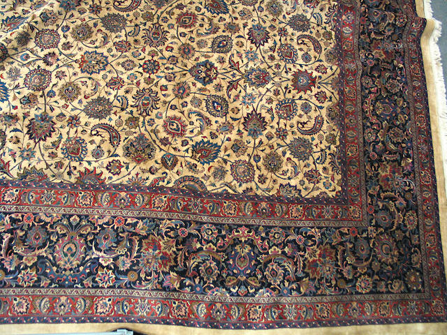 A Meshed carpet size approximately 16ft. 3in. x 22ft.