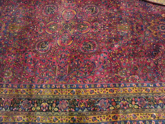 A Meshed carpet size approximately 11ft. 1in. x 16ft. 9in.