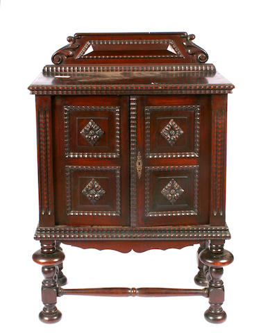 A Portugese rosewood cabinet
