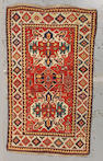 A Chelaberd rug Caucasus, size approximately 4ft. 3in. x 7ft. 2in.