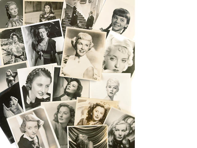 A large collection of black and white headshots, 1930s-1950s
