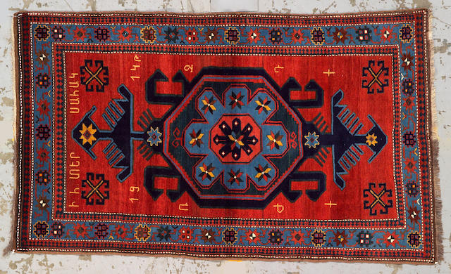 A Kazak rug Caucasus size approximately 6ft. 6in. x 3 ft. 11in.