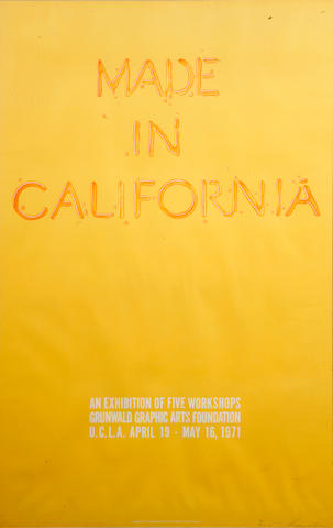 Edward Ruscha (American, born 1937); Made in California (Exhibition Poster);