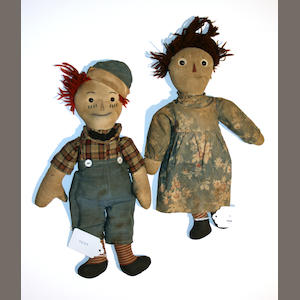 Volland Raggedy Ann & Andy dolls